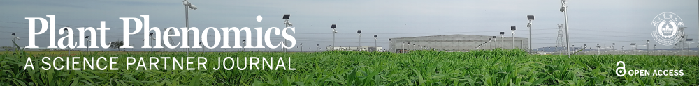 Image of a field with sensing equipment